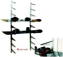 SWISS-TROCK Snowboardhalter für Wandmontage (9 Boards)
