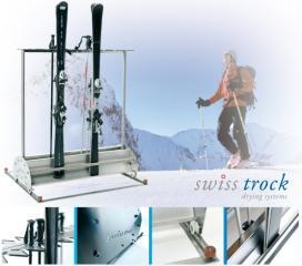 SWISS-TROCK Ski Container für Schienensystem (18 Paare)