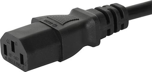 GST Geräteanschlusskabel: CH Anschlussleitung mit IEC Gerätesteckdose C13, gerade
