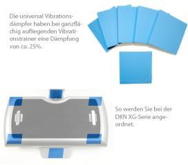 Vibrationsdämpfer-Pads für die DKN XG-Serie