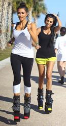 Kim Kardashian Kangoo Jumps